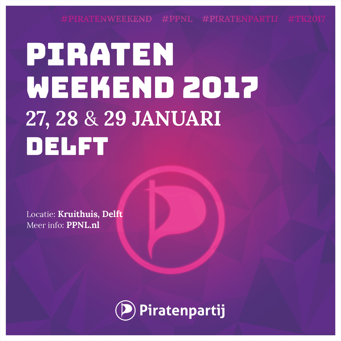 Piratenpartij Delft organiseert groot Piratenweekend