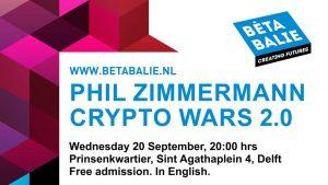 Phil Zimmermann | Crypto Wars 2.0 @ Prinsenkwartier | Delft | Zuid-Holland | Nederland